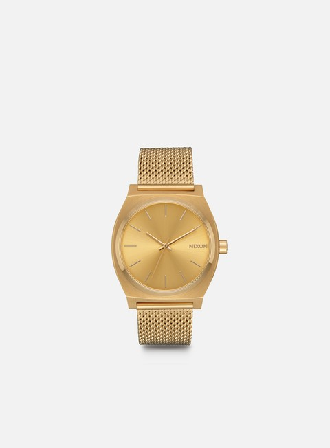 accessori nixon time teller milanese all gold