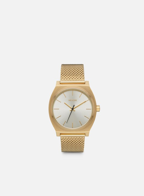 accessori nixon time teller milanese all gold cream