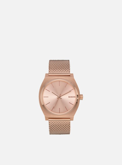 accessori nixon time teller milanese all rose gold