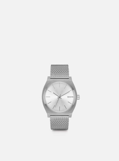 accessori nixon time teller milanese all silver