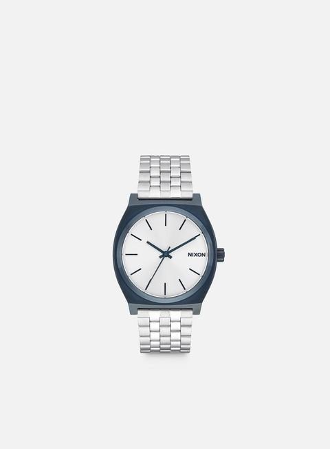 accessori nixon time teller navy silver