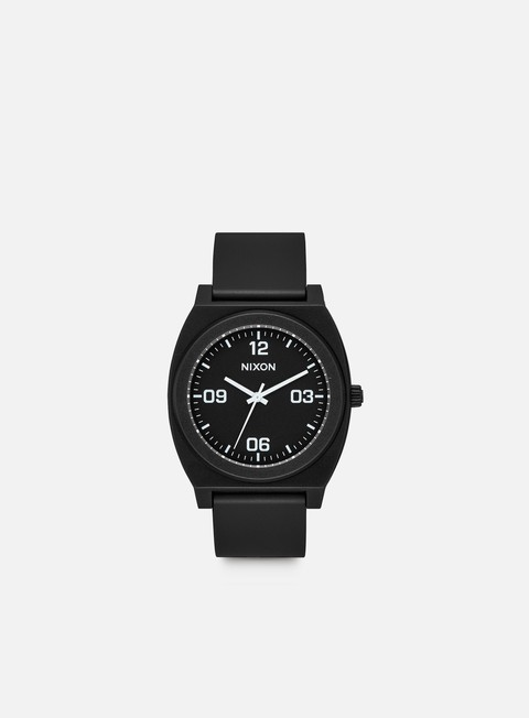 accessori nixon time teller p corp matte black white