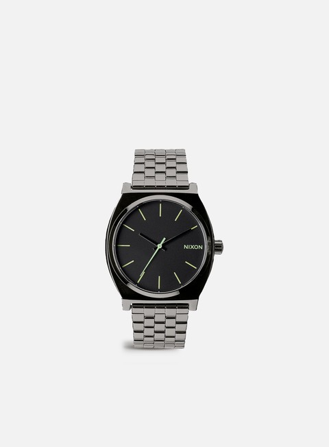 accessori nixon time teller polished gunmetal lum