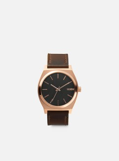 Nixon - Time Teller, Rose Gold/Gunmetal/Brown 1