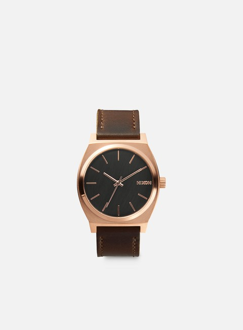 accessori nixon time teller rose gold gunmetal brown