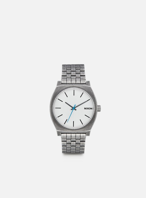 accessori nixon time teller silver antique