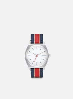 Nixon - Time Teller, White/Stripes 1