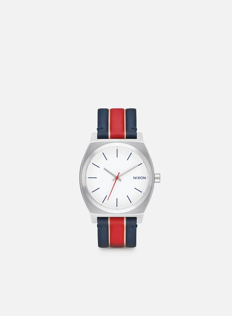 accessori nixon time teller white stripes