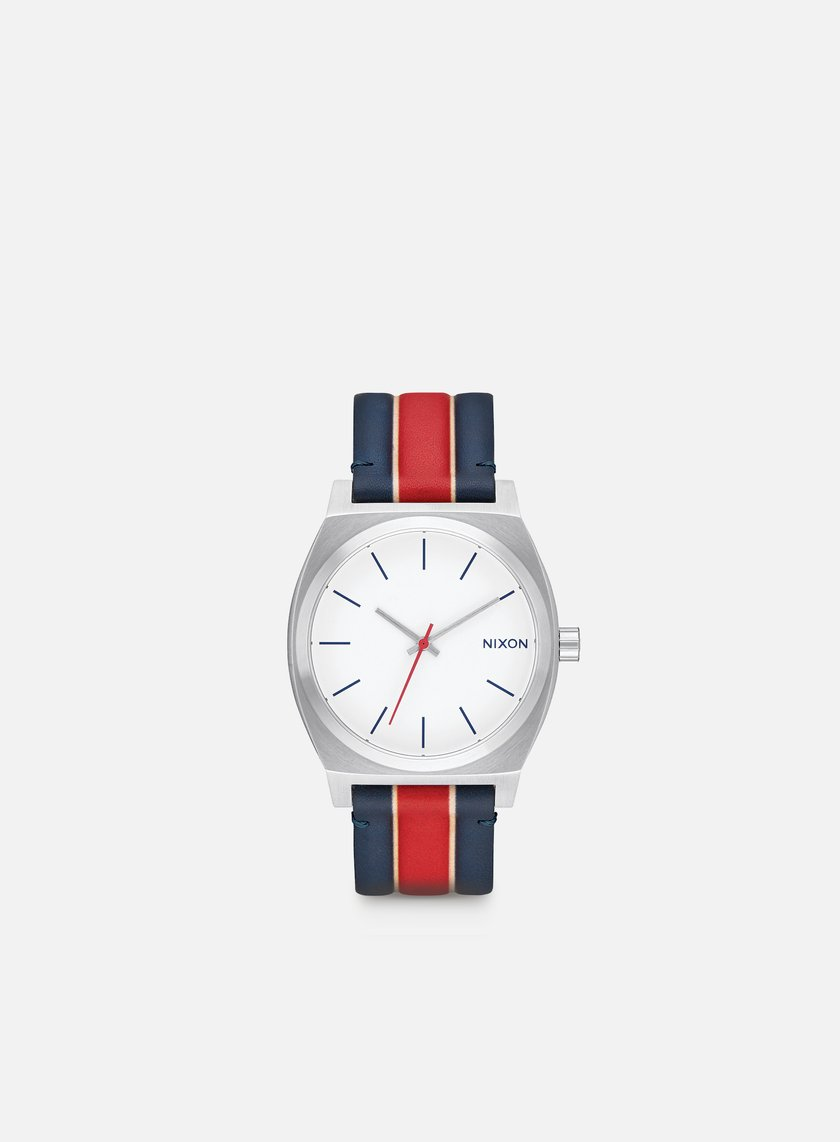 Nixon - Time Teller, White/Stripes