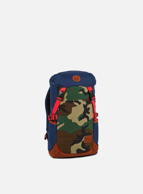 accessori nixon trail backpack navy woodland camo