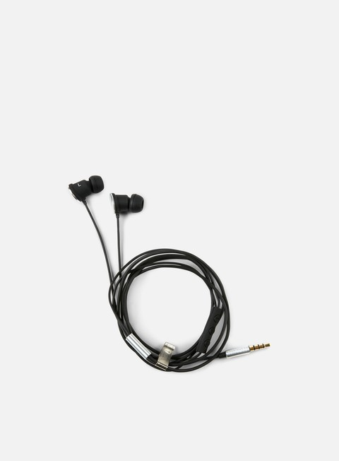 accessori nixon wire 3 button mic headphones black
