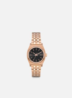 Nixon - WMNS Small Time Teller, All Rose Gold/Black Sunray