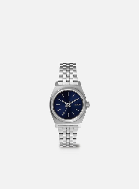 accessori nixon wmns small time teller all silver cobalt