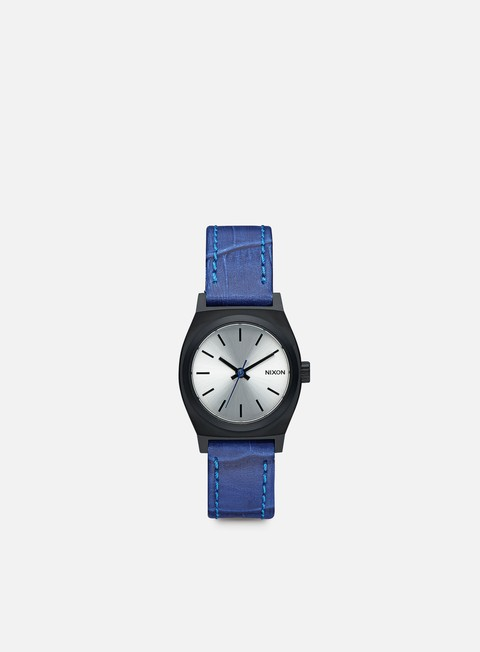 accessori nixon wmns small time teller black blue gator