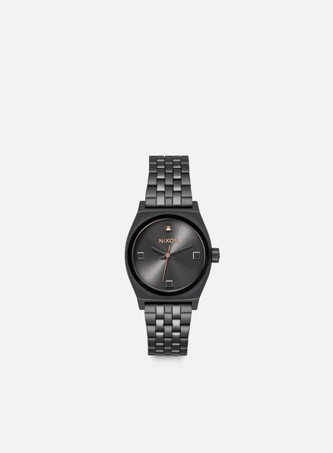 accessori nixon wmns small time teller black crystal rose gold