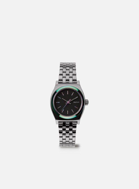 accessori nixon wmns small time teller gunmetal multi