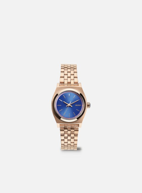 accessori nixon wmns small time teller rose gold cobalt