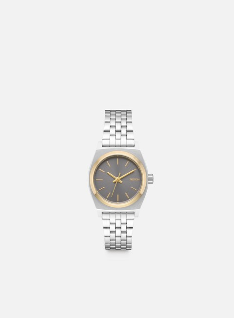 accessori nixon wmns small time teller silver gold grey