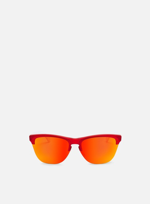 accessori oakley frogskins lite matte translucent red prizm ruby