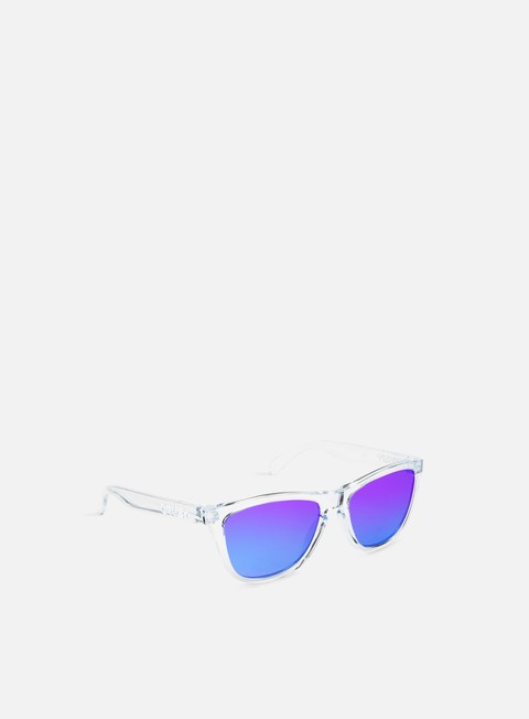accessori oakley frogskins polished clear violet iridium
