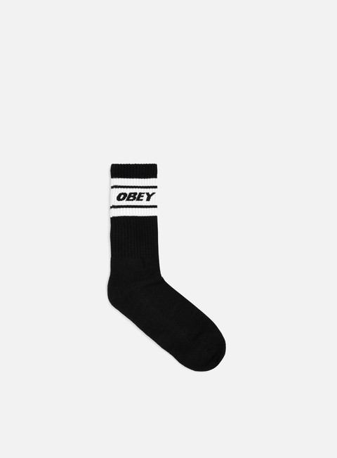accessori obey cooper deuce socks black white