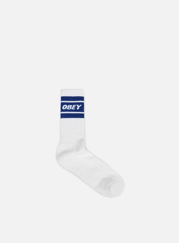 Obey - Cooper II Socks, White/Navy