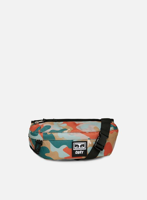 accessori obey drop out sling bag drip camo