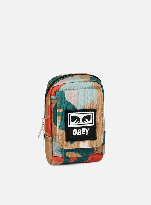 accessori obey drop out utility bag drip camo