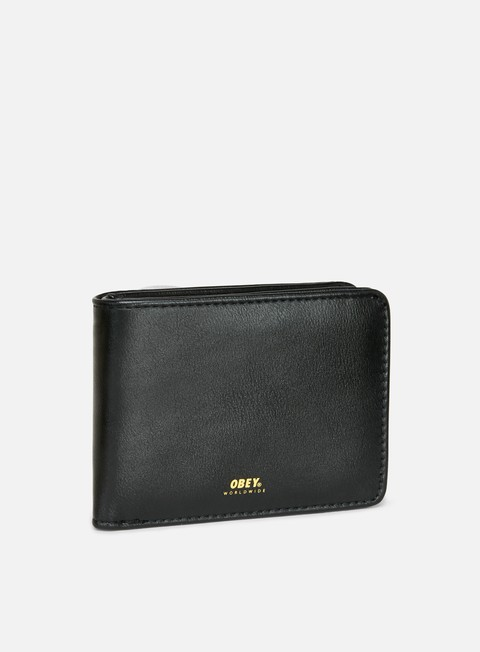 accessori obey gentry bi fold wallet black