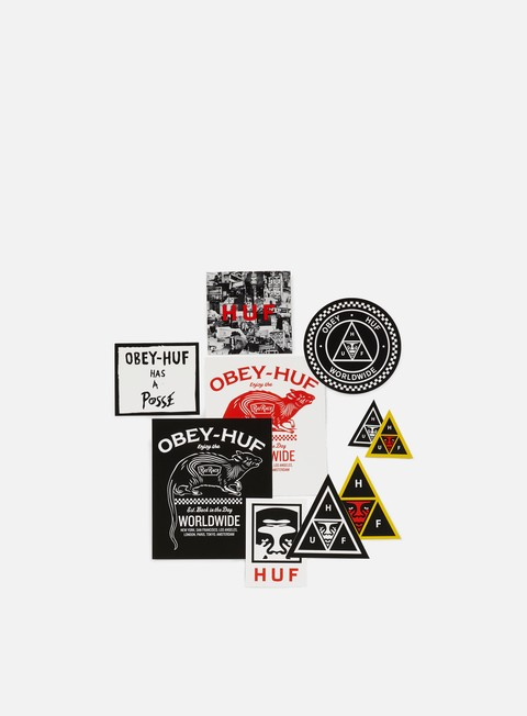 Various Accessories Obey Huf Sticker Pack