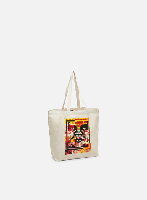 Outlet e Saldi Borse Obey Obey 3 Face Collage Tote Bag