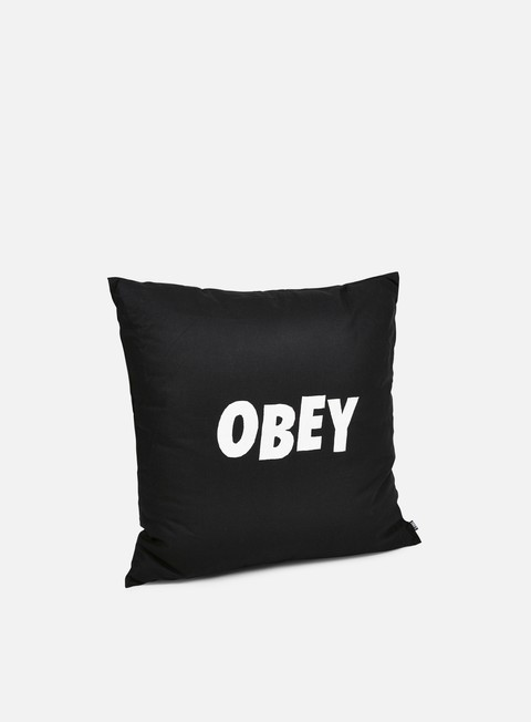 accessori obey obey jumbled pillow black
