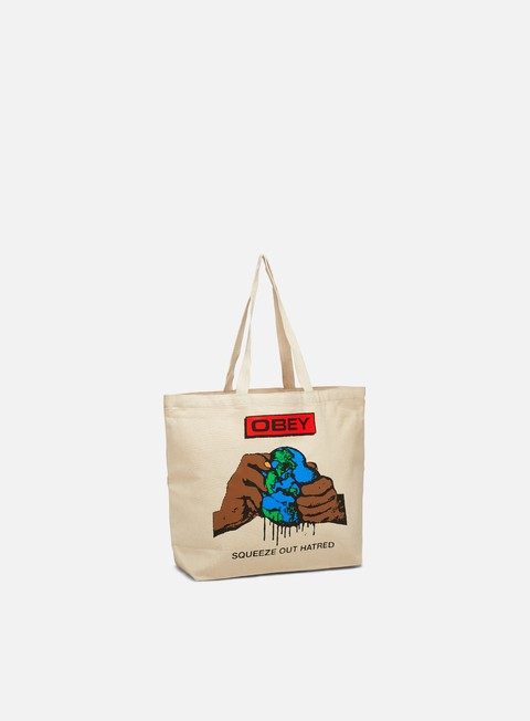 Outlet e Saldi Borse Obey Squeeze Out Hatred Tote Bag