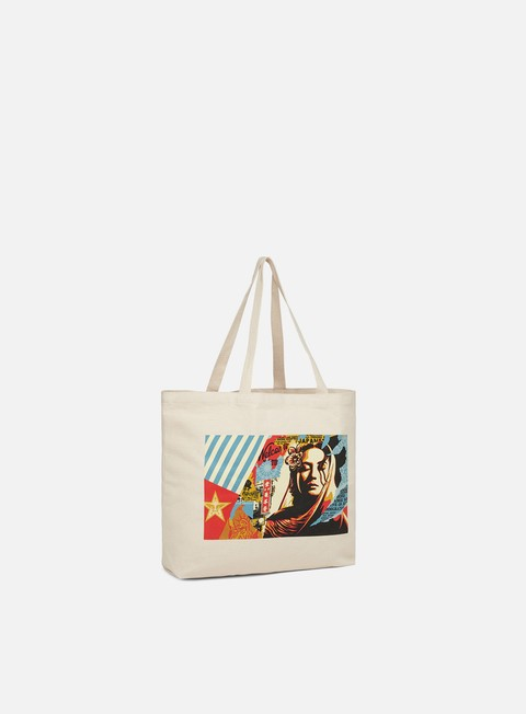 Outlet e Saldi Borse Obey Welcome Visitor Tote Bag