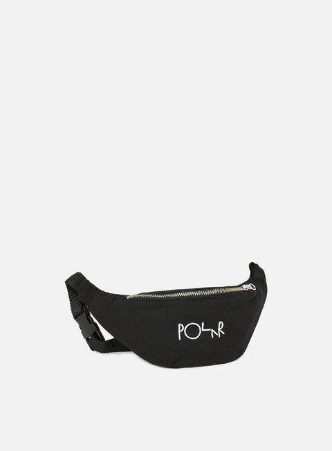 accessori polar skate script logo hip bag black