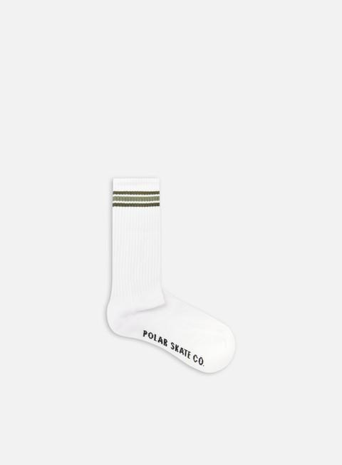 Socks Polar Skate Stripe Long Socks,White/Uniform Green