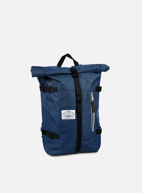 accessori poler retro rolltop backpack blue steel