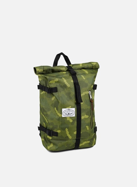 accessori poler retro rolltop backpack green camo