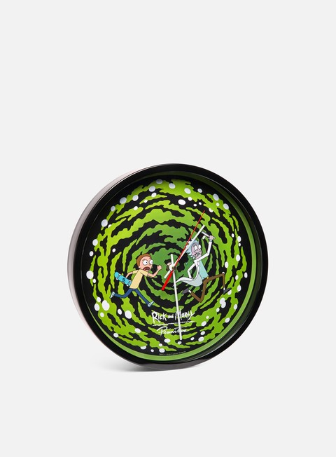 accessori primitive rick and morty portal wall gid clock green