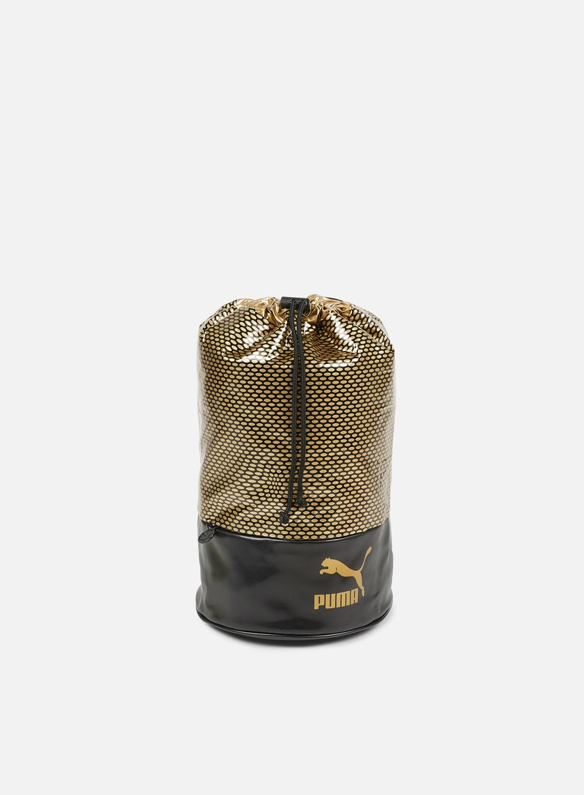 Puma - Archive Bucket Bag Gold, Puma Black/Gold Graphic
