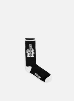 Rebel 8 - Go Fuck Yourself Socks, Black/White 1