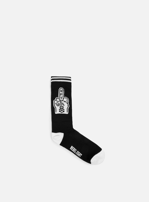 accessori rebel 8 go fuck yourself socks black white