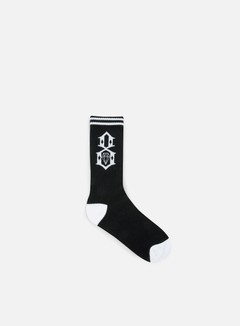 Rebel 8 - Logo Socks, Black/White 1