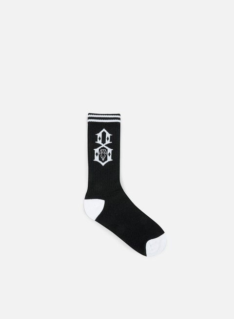accessori rebel 8 logo socks black white