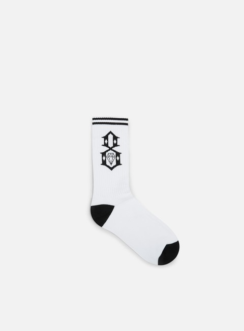 accessori rebel 8 logo socks white black