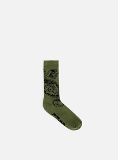 Rebel 8 - Run To The Hills Socks, Army/Black