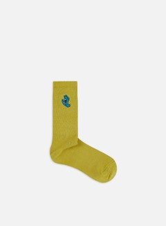Santa Cruz - Screaming Mini Hand Socks, Mustard
