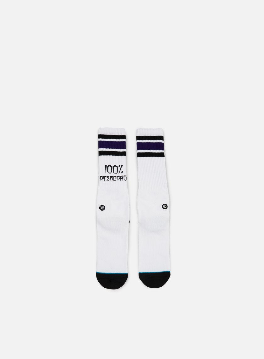 Stance - 100 Percent Skate Jay Adams Crew Socks, White