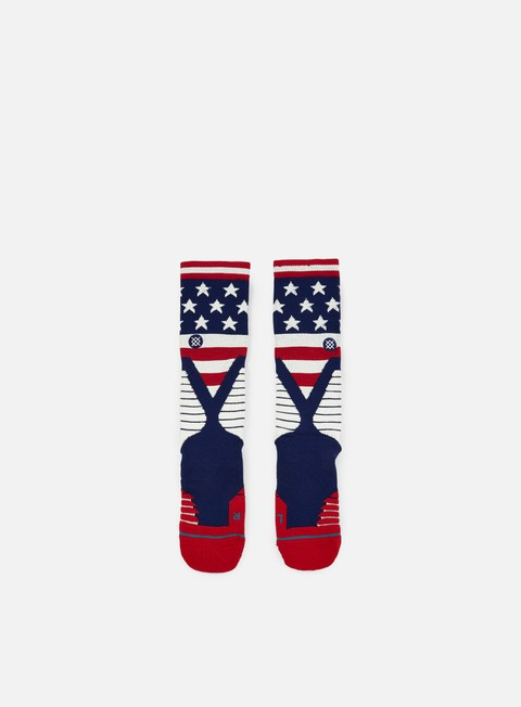 accessori stance b ross fusion basketball crew socks navy
