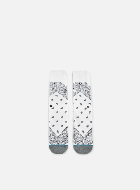 accessori stance barrio crew socks white